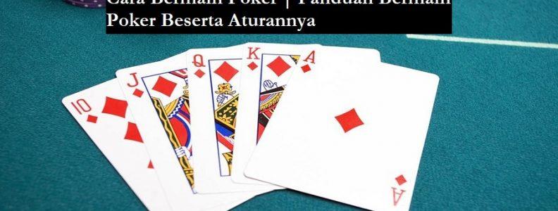 aturan cara bermain poker